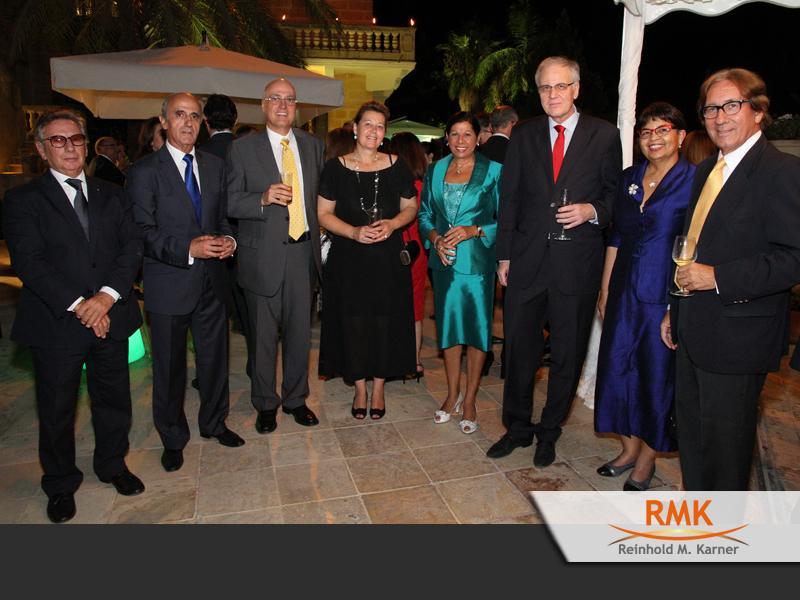 Empfang der amtierenden Präsidentin von Malta des konsularischen und diplomatischen Corps.