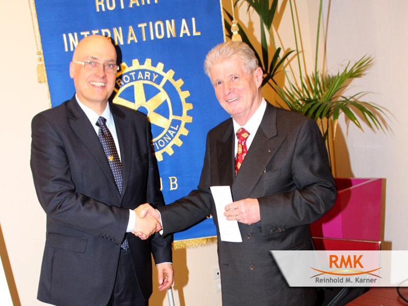"RMK Charity-Vortrag ""Economy 4.0"" für Rotary Meran, Südtirol"