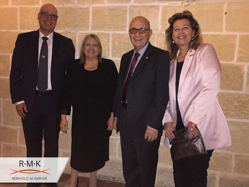 Dinner Einladung des Staatsoberhaupts von Malta in Anerkennung  der ständigen Unterstützung und Kooperation