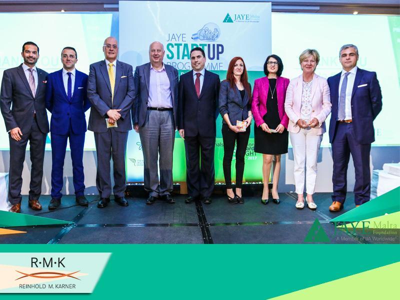 """Die Start-Up Jury - der weltweiten Non-Profit Organisation """"JAYE Junior Achievement Young Enterprise"""" Malta Foundation"""
