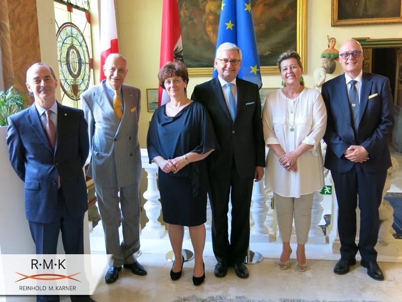 EU Ratspräsidentschaft von Malta - Empfang des Präsidenten und seiner Delegation des österr. Gemeindebundes im österr. Konsulat in Valletta